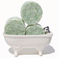 Best Handmade Soap Green Grass Round Bar