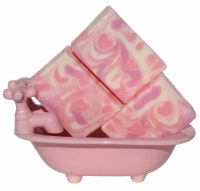 Love Spell Type Handmade Soap Pink Romantic Flowers