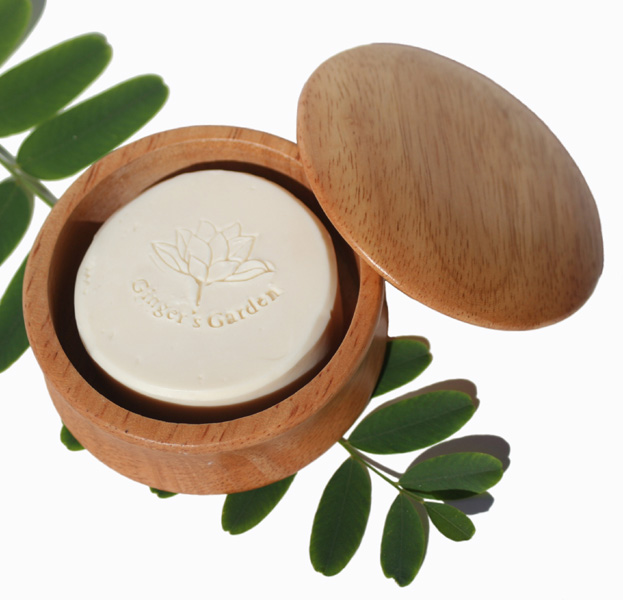 Artisan Glycerin Shave Soap and Wood Shaving Bowl Set