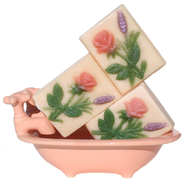 Natural Lavender Rose Handmade Soap