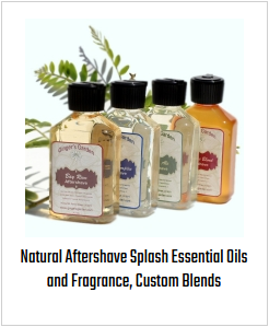 Natural Aftershave Splash Essential Oils and Fragrance, Custom Blends