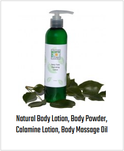 Natural Body Lotion, Body Powder, Calamine Lotion, Body Massage Oil