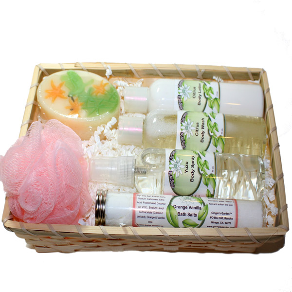 Citrus Orange Grapefruit Vanilla Gift Basket