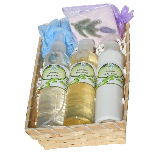 Handmade Artisan Gift Box Soap Lotion Shower Gel