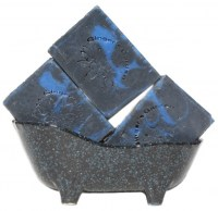 Handmade Man's Black Blue SoapTea Spices
