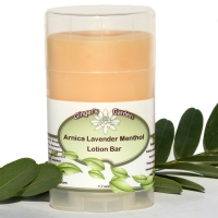 Natural Lotion bar Moisturizer Lavender Spearmint Peppermint Menthol Arnica