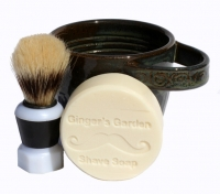 Artisan Shaving Soap Mug Scuttle Brush Wet Shave Set