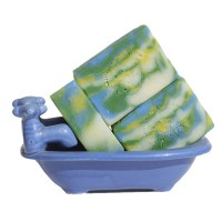 Handmade Soap Blue Ocean Green Floral Aquatic Dreams