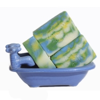 Handmade Soap Blue Ocean Green Floral