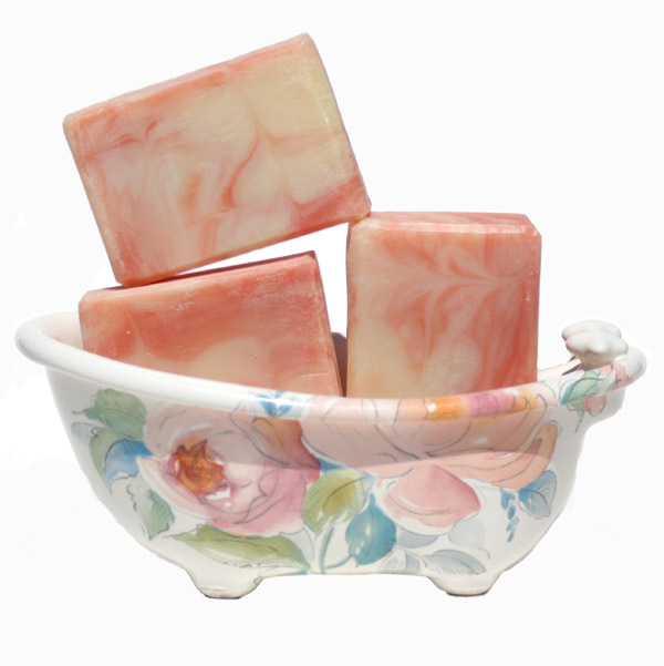 Apricot Freesia Handmade Soap Lily Rose Pink Floral